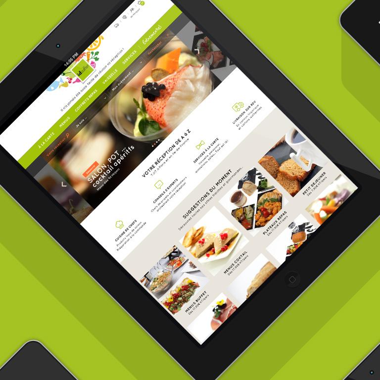 Nouveau site web Idbuffet.com creation graphique agence le 6 paris