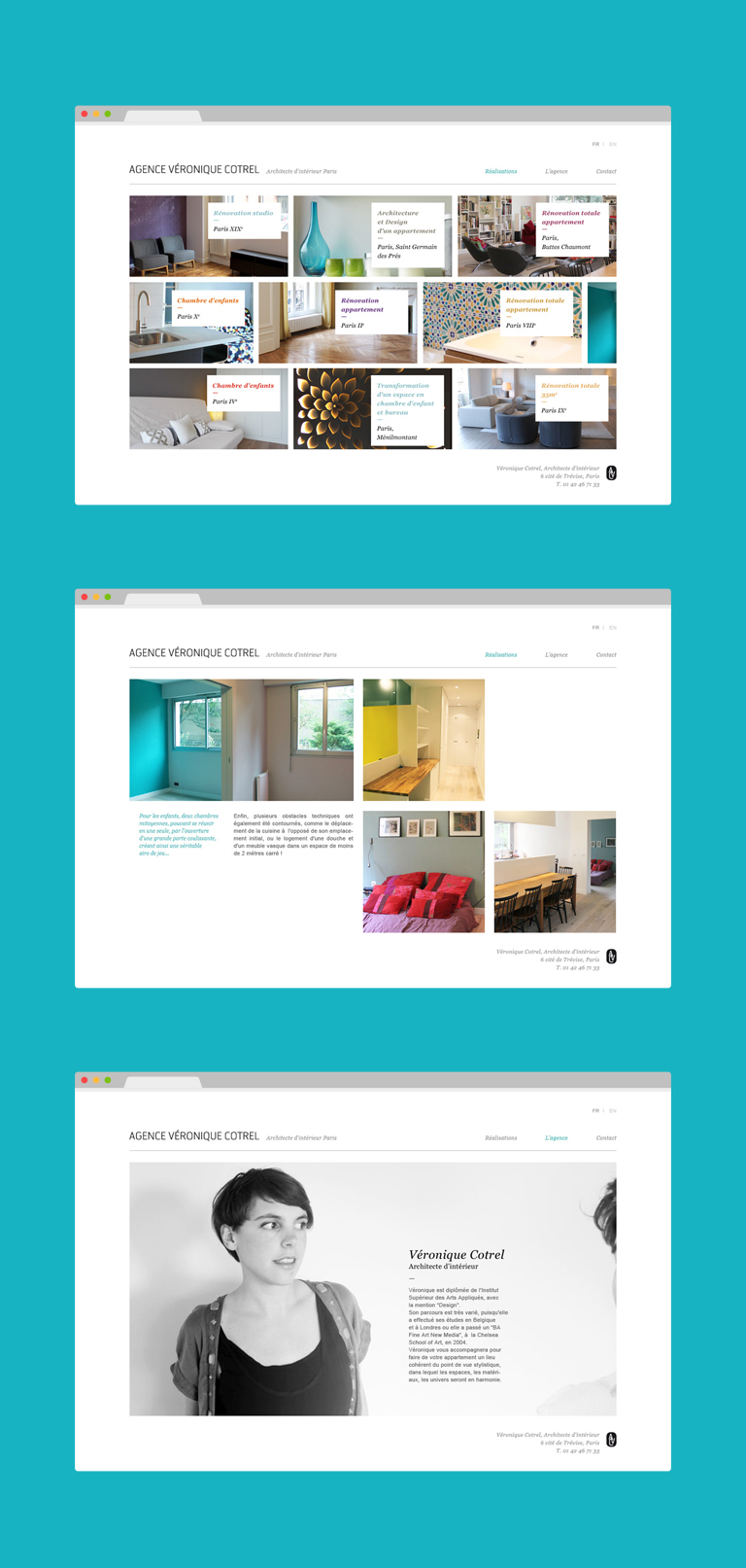 agence v ronique cotrel agence le 6. Black Bedroom Furniture Sets. Home Design Ideas