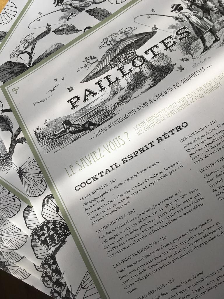 Agence le 6 - creation graphique paris - identite visuelle Nouvelle brochure corporate Les Etangs de Corot - Caudalie - Les Paillottes - Carte