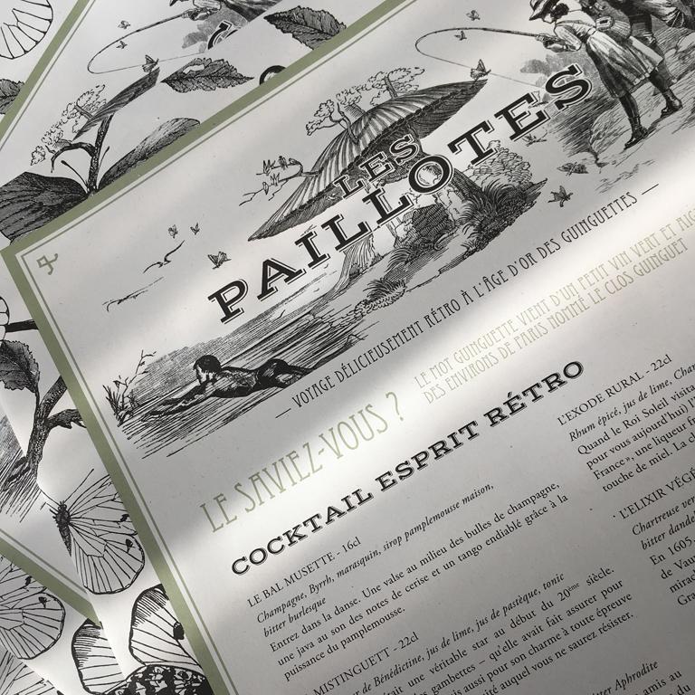 Caudalie_Etangs de Corot_Creation graphique edition menu gazette_Agence le 6_Paris_2