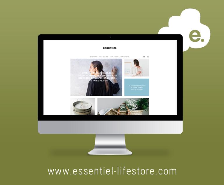 Essentiel-Lifestore-e-commerce-Agence le 6 Paris-Agence Pixies Besançon