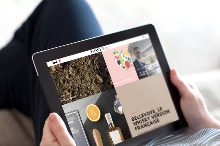 Agence Le6_Design Graphique Paris_Corporate_Magazine en ligne_Conception_Digital_Ventealapropriete_Air France_Creation_ipad_webzine